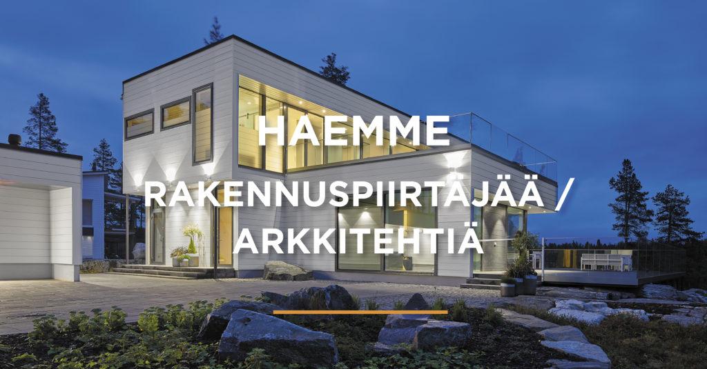 Haemme rakennuspiirtäjää / arkkitehtiä